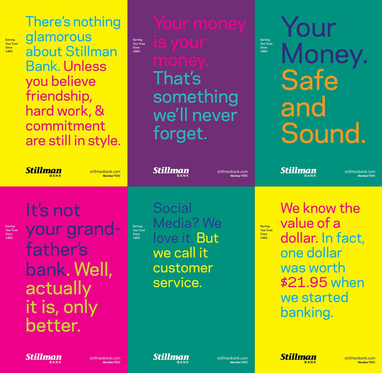 Apart Design Bank.Stillman Bank Brand Campaign Grahamspencer